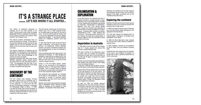 3_History_ebook Australian Backpackers Guide