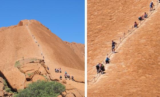 Uluru besteigen