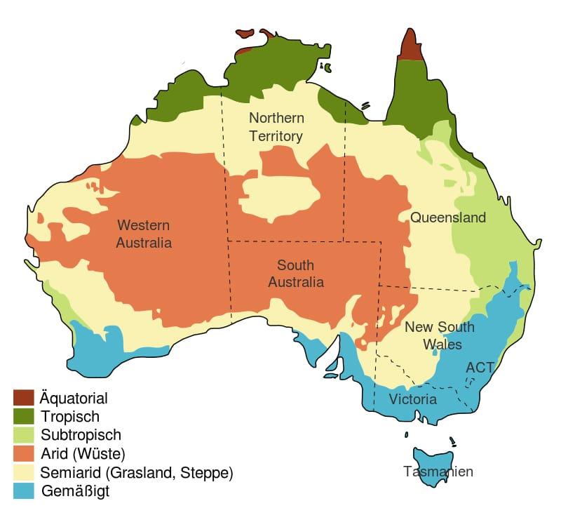 Klimazonen Australien