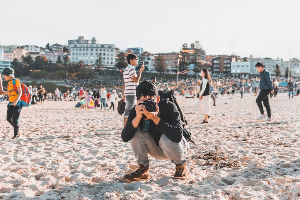 Tourist in Bondi Beach Australien
